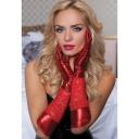 Красные комбинированные перчатки