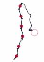 Красные анальные шарики на чёрной веревочке